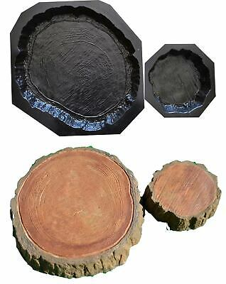 Set of 2 Stepping Stone Log  slab Mold Concrete Cement Mould for garden path#S12