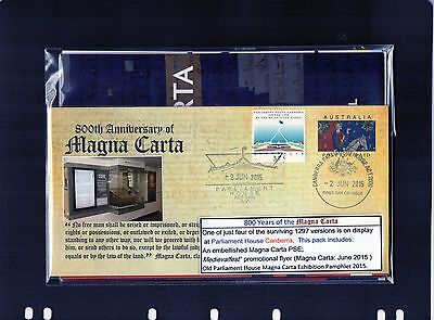 2015 800th Anniversary Of Magna Carta PSE Pack, A GR Cover, Limited Edition