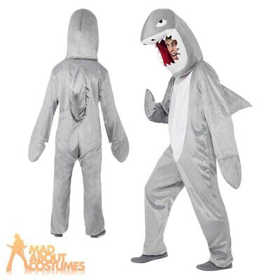 Adult Shark Attack Costume Animal Unisex Jaws Fish Fancy Dress Outfit
