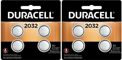 8 Duracell CR 2032 ECR2032 CR2032 DL 2032 3V Lithium Battery Exp 2027