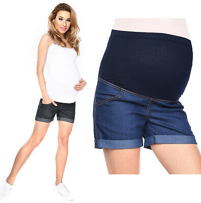 Maternity pregnancy shorts pants trousers with over bump panel 3086