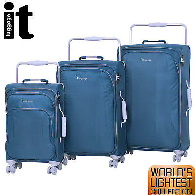 3Pc IT Luggage LIV Centurion Suitcase Trolley Set Hard Case Carry On Lightweight