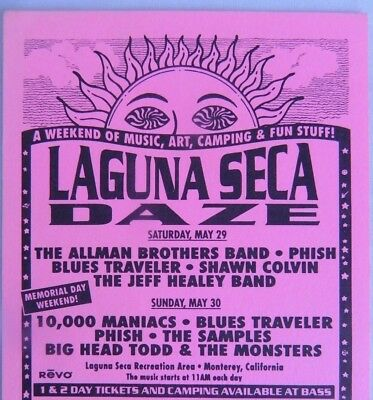 Bill Graham Presents BGP Laguna Seca Daze 1993 Allman Brothers, Phish Handbill