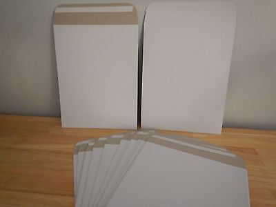 25 - 7x9 CD/DVD Photo Cardboard Envelope Mailers Stay Flat. Self Sealing