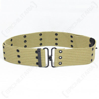 COYOTE Tan Cotton Webbing Military PISTOL BELT - Army Style Equipment 122cm New