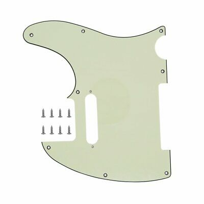 3 Ply Mint Green Guitar Pickguard Plate For Tele Scratchplate Fender Telecaster