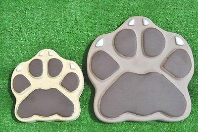 Beast's Paws (Dog,Cat) Stepping Stone Mold Concrete Mould for garden path #S15