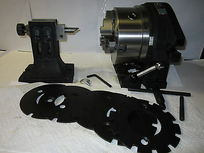 "8""  F2 Super Spacer & 6 Masking Plates,Tailstock, Adjustable Chuck 0.0005""- NEW"