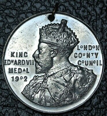 1907-08 KING EDWARD VII MEDAL (1902) London County Council Awarded to…Beautiful