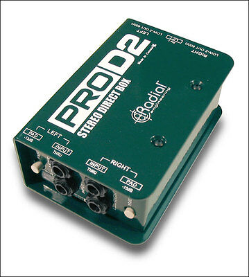 Radial Engineering ProD2 ™ Stereo Dual Channel Direct Box NEW!