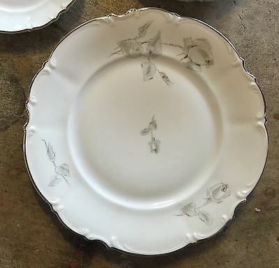 Hutschenreuther Gray Rose Bavaria China - Soup Bowl