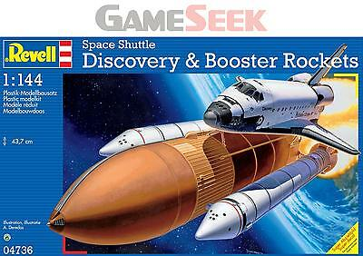 Space Shuttle Discovery And Booster 1:144 Scale Model Kit