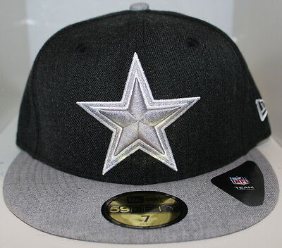 50fb692a1f0 Dallas Cowboys New Era 2-Tone Heather Black Heather Gray 59Fifty Cap Fitted  Hat