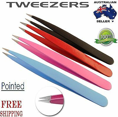 Professional sharp pointed plucker hair remover puller eyebrow eyelash tweezers