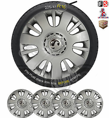 "VAUXHALL BADGED 16"" WHEEL TRIMS HUB CAPS COVERS BRAND NEW SET OF 4 – Vauxhall 2"