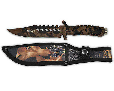 HUNTING SURVIVAL KNIFE BOWIE FIXED BLADE + Sheath MH H153B - ²HAFHC