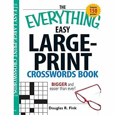 Everything Easy Large-Print Crosswords Book Fink Adams Media Corp. 9781598692372
