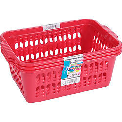 Storage Solutions Medium Handy Baskets - Blueberry/Raspberry Set of 3 (30cm x 2