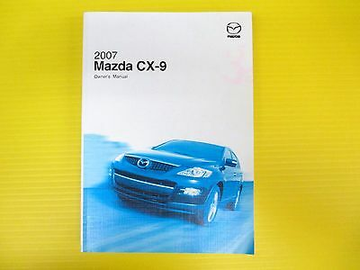 CX-9 CX 9 SUV 07 2007 Mazda Owners Owner/'s Manual All Models OEM
