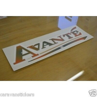 ELDDIS Avante - (2002)(STYLE 3) - Caravan Name Sticker Decal Graphic
