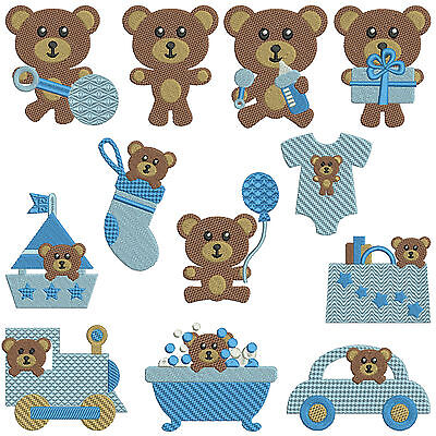 BABY BEARS BOY * Machine Embroidery Patterns * 12 designs