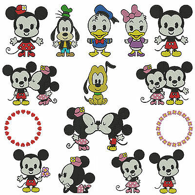 CUTIES 1 * Machine Embroidery Patterns * 15 designs, 2 sizes