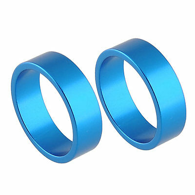 2pcs Blue Alumnium Alloy Headset Stem Spacers Washer for Bike Bicycle