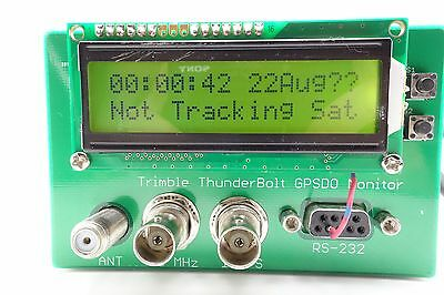 Trimble ThunderBoltTiming GPS Receiver GPSDO 10MHz GPS Disciplined Clock Monitor
