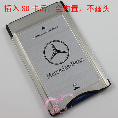 NEW Geniue Mercedes Benz SD to PCMCIA Multi Card Reader Adapter For Benz MP3