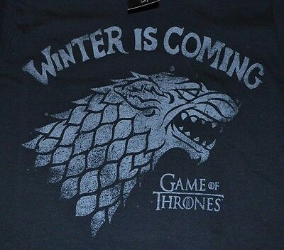 Game of Thrones Winter is Coming Official Licensed Mens T-Shirt Tee Size Small
