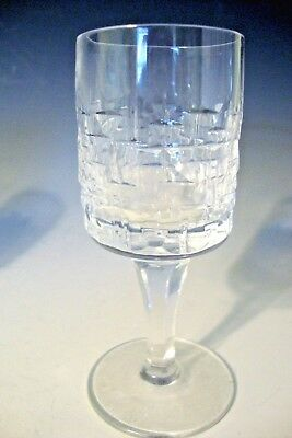 "Vintage Crystal Clear Stemware Diamond Cut Glass Liqueur Cordials - 4""H"
