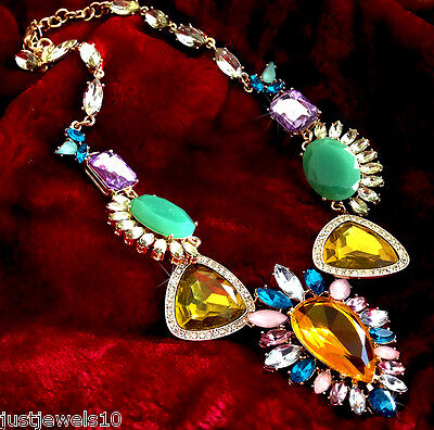 Necklace Amber peridot Mint green crystal Vintage Classic Lush Jewellery x-mas