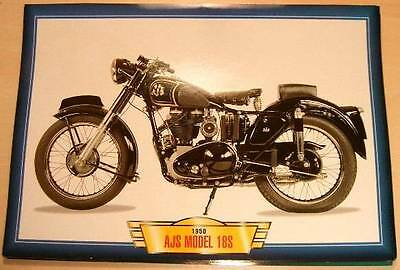 Ajs Model 18S 18 S 500 Single Classic Bike Motorcycle  1950's Picture Print 1950