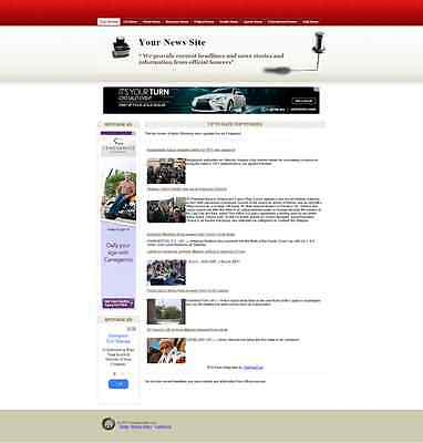 Current News and Information Website, Hourly Automatic Updates - Good Deal!