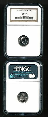1997 Canada Ten Cent Specimen Proof Sp69 Ngc