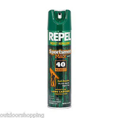 REPEL SPORTSMEN MAX 40% DEET - Insect Repellent, Long Lasting Protection