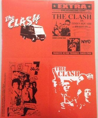 "THE CLASH Sticker Set of Four Brand New 4""x5"""