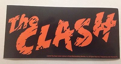 "The Clash Logo Sticker 6""x2 3/4"" Brand New"
