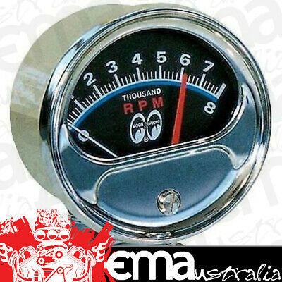 "Mooneyes Original 3-3/4"" Tachometer 0-8000Rpm Mnmpg5000Tm"