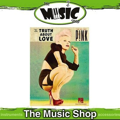New Pink 'The Truth About Love' PVG Music Book - Piano Vocal Guitar - P!nk