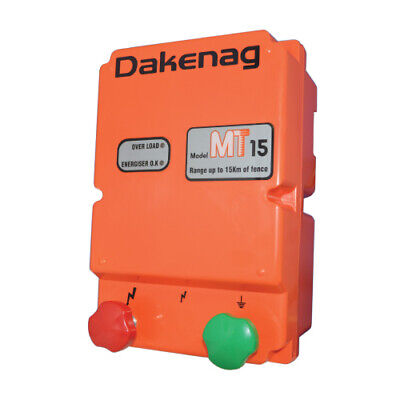 15km MAINS Electric Fence Energiser MT15  Energizer 3 YEAR WARRANTY 1.7J DAKEN