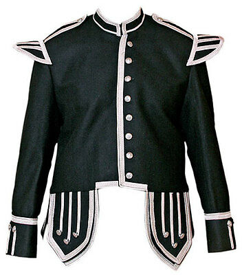 Piper & Drummer Doublet Black With Silver Braid And Trim.