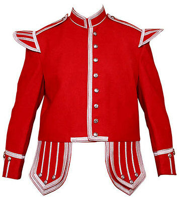 Piper & Drummer Doublet Red With Silver Braid & Trim.