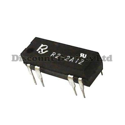R2-2A 12V DC Reed Relay 2PST 1A 125VAC 2 Circuits/ DIP Packaking