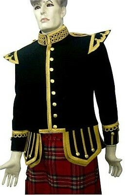 Piper & Drummer Doublet Black with Gold Braid & Trim.