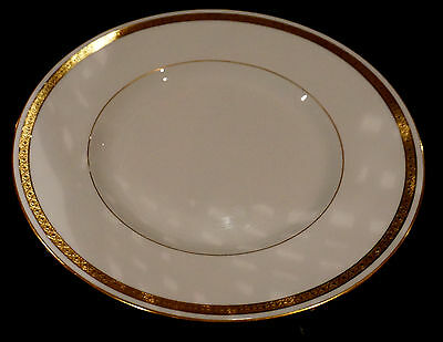 Minton Antique White And Gold #9816 Luncheon Plate