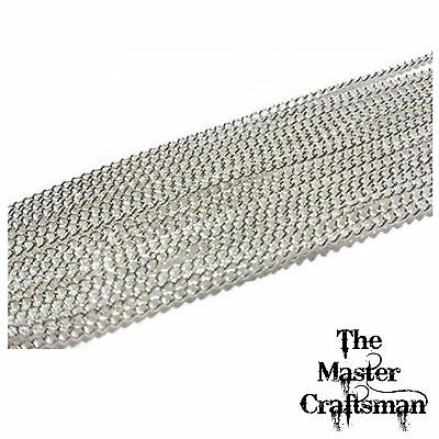 1-10 M Jewellery Making Necklace Chain Sterling Silver Plated Curb Wholesale Per