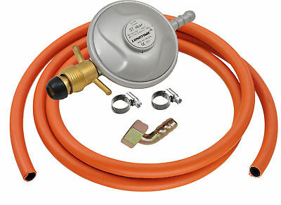 Propane Gas Regulator Low Pressure 37mbar Screw-on Nozzle Caravan Camper BBQ NEW