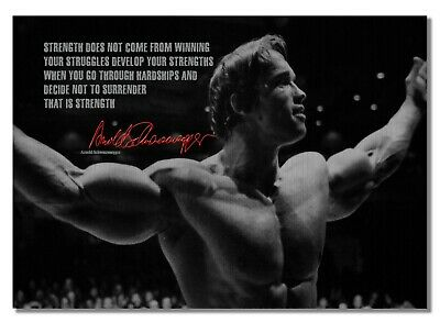 Arnold Schwarzenegger 61 Bodybuilder Motivation Determination Quote Poster