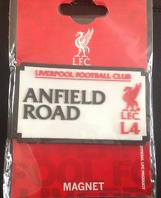 Liverpool Official Fridge Magnet - Anfield Road LFC L4 - Great Gift Idea